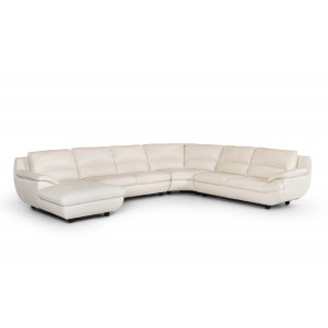 Divani Casa Levine Modern White Leather Sectional Sofa
