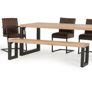 Modrest Reese Modern Aged Oak Dining Bench