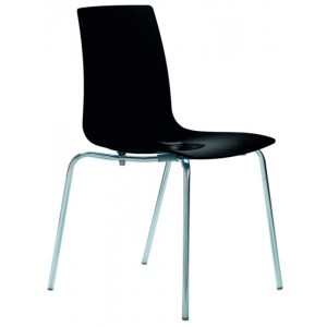 Modrest Lollipop - Modern Black Gloss Italian Dining Chair