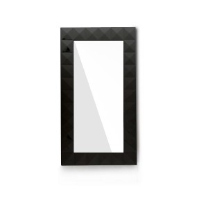 Versus Eva Modern Black Gloss Floor Mirror