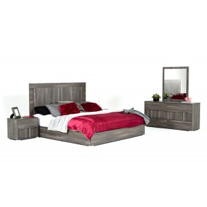 Modrest Luca Italian Modern Grey Bedroom Set