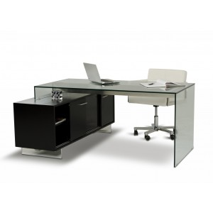 Modrest soul modern contemporary office desk with for Affordable furniture on slauson