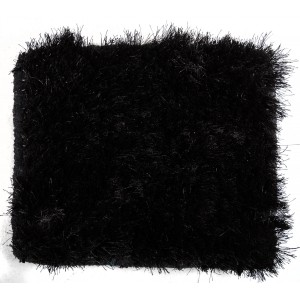 Modrest Mantova by Linie Design Modern Black Small Area Rug