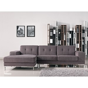 Divani Casa Forli - Modern Fabric Sectional Sofa