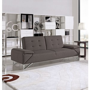 Divani Casa Briza Modern Brown Fabric Sofa Bed