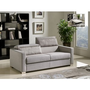 Elegant Divani Casa Norfolk Modern Grey Fabric Sofa Bed