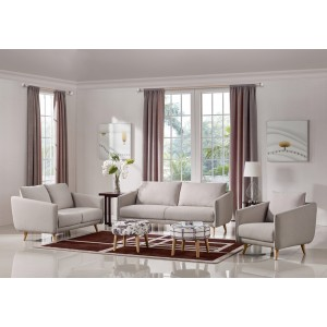 Divani Casa Dakota Modern Beige Fabric Sofa Set