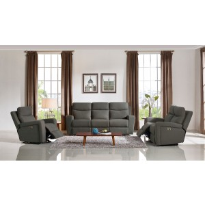 Perfect Divani Casa Shaw Modern Grey Fabric Sofa Set W/ Recliners