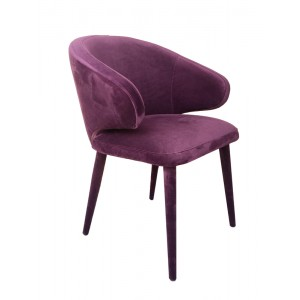 Modrest Salem Modern Purple Fabric Dining Chair