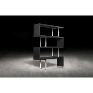 Modrest Maze Modern Grey Elm Bookcase
