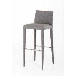 Modrest Medford Modern Grey Fabric Bar Stool