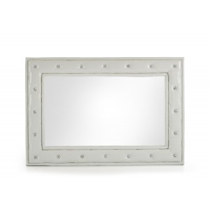 Modrest Melody Modern White w/ Crystals Mirror