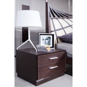 Modrest Prism Modern Brown Oak Nightstand