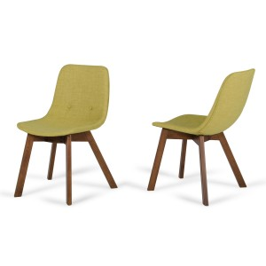 Laken - Modern Green Tea & Walnut Dining Chair (Set of 2)