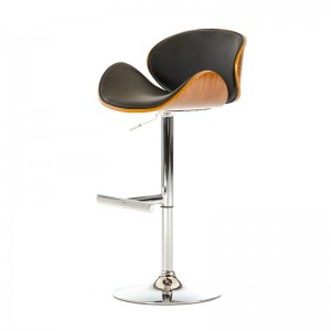 Modrest Miller Modern Black & Walnut Bar Stool