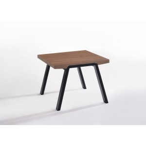 Modrest Rhett Modern Walnut & Black End Table