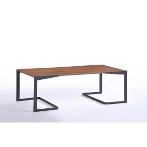 Modrest Garrison Modern Walnut Coffee Table