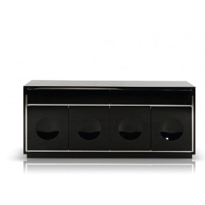 A&X Grand - Modern Black Crocodile Lacquer Buffet