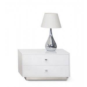 A&X Monica - Modern White Gloss Nightstand