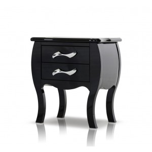 Modrest Monte Carlo Black Nightstand
