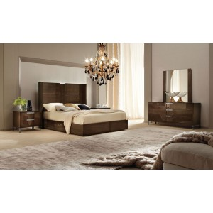 alf soprano italian modern bedroom set with storage drawer - Modern Bedroom Furniture Sets
