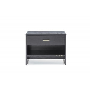 Modrest Wales Modern Grey Ash 1-Drawer Nightstand