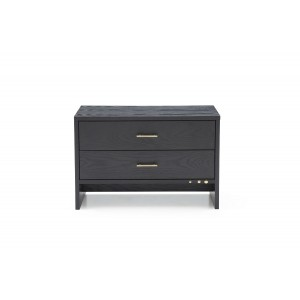 Modrest Wales Modern Grey Ash 2-Drawer Nightstand