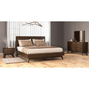Modrest Novak - Modern Dark Oak Bedroom Set