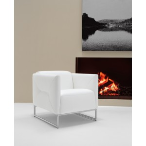 Estro Salotti Odessa Modern White Accent Chair