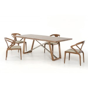 Modrest Olson Modern Walnut Dining Table