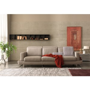 Estro Salotti Pegaso Modern Taupe Leather Sofa Set