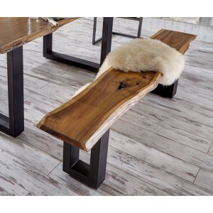 Modrest Taylor Modern Live Edge Wood Dining Bench