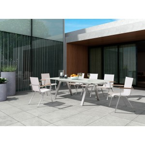 Renava Raffia Outdoor White Dining Set