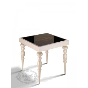 A&X Saure Transitional Champagne Gloss End Table