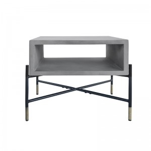 Modrest Walker Modern Concrete & Metal End Table