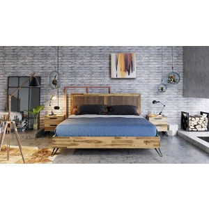 Modrest Sala Modern Light Wood Bed