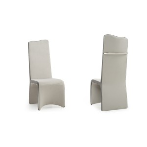 Modrest Sapphire - Modern Beige & Grey Dining Chair (Set of 2)