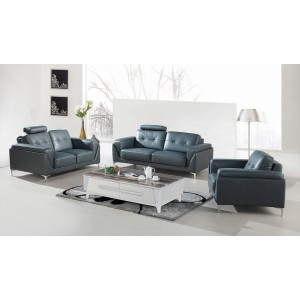 Divani Casa Markham Modern Grey Bonded Leather Sofa Set