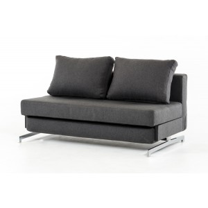 Divani Casa Sepulveda Modern Grey Fabric Sofa Bed