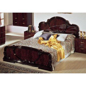 Modrest Serena Mahogany Traditional Italian Bed