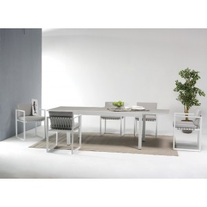 Renava Shape Outdoor Grey Dining Set