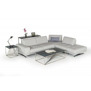 Estro Milano Spazio Italian Modern Leather Sectional Sofa