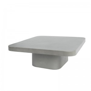 Modrest Flores Modern Grey Concrete Coffee Table