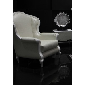 Modrest Sunrise Modern White Leatherette Armchair
