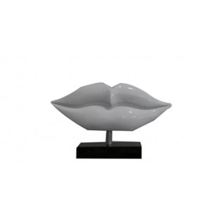 Modrest Lips Modern White Sculpture