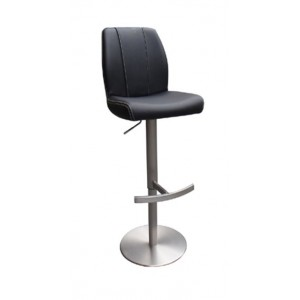 Modrest Gordon Modern Black Bar Stool