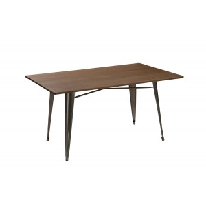 Modrest Ford Modern Steel & Wood Dining Table