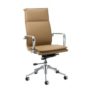 Modrest Ashton Modern Camel High-Back Office Chair