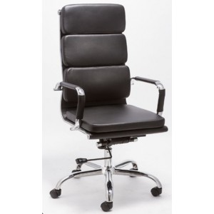 Modrest John Modern Black High Back Office Chair