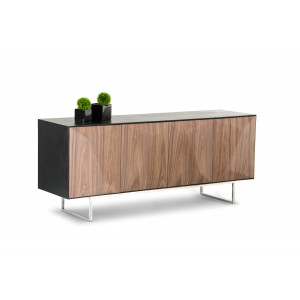 Modrest Vanguard Modern Wenge Buffet w/ Walnut Doors